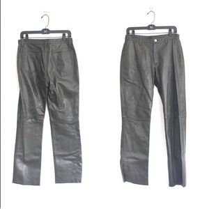 Vintage BR High Waisted Straight Leather Jeans